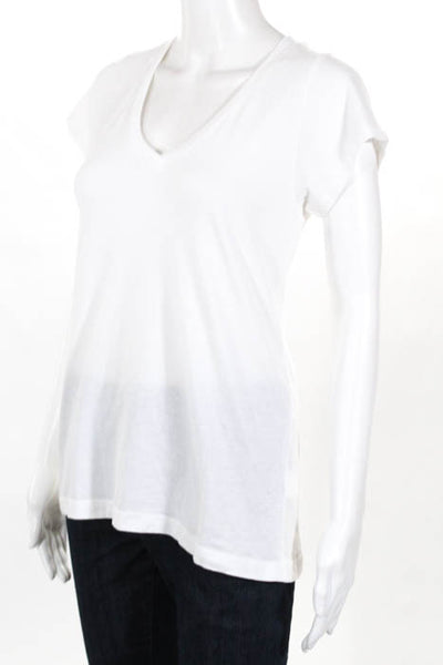 Alene Too White Happiest In The Hamptons V Neck Tee Shirt Size Small New $60