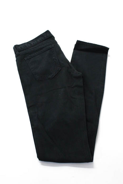 Anlo Black Cotton Blend Zipper Fly Closure Women's Skinny Leg Jeans Size 28 New