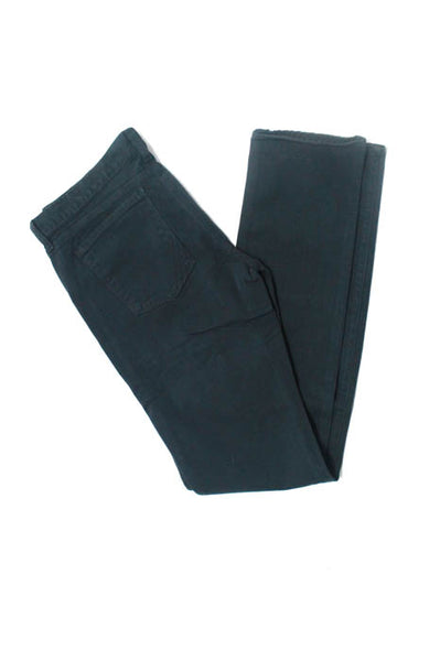 Anlo Black Cotton Blend Zipper Closure Women's Skinny Leg Jeans Size 30 New