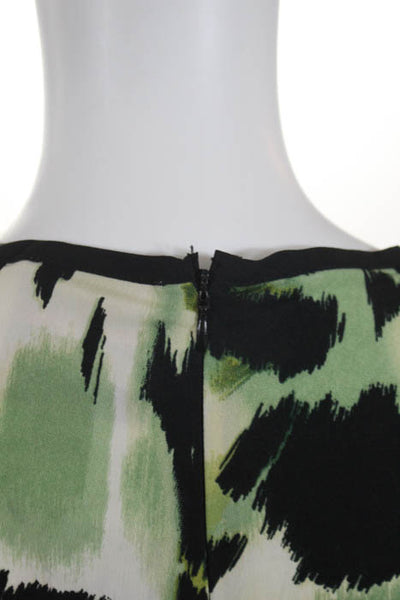 Romeo + Juliet Couture Green Black Printed Key Hole Neck Dress Size Medium NEW