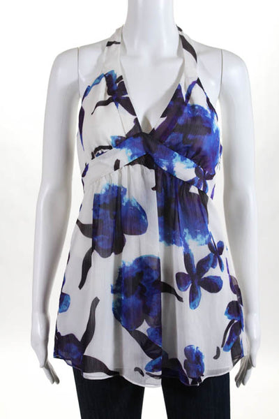 Walter White Floral Halter Neck Blouse Top Size 8