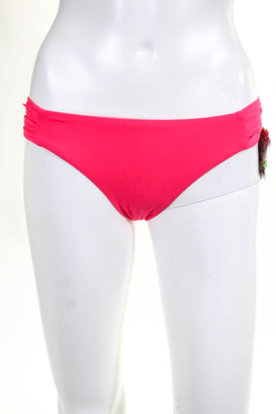 Beca By Rebecca Virtue Bright Pink American Fit Bikini Bottom Size Small New