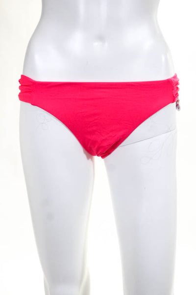 Beca By Rebecca Virtue Pink American Fit Bikini Bottom Size Large New With Tags
