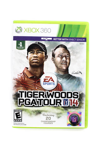 Lot 4 Xbox Xbox 360 Just Dance 4 Gotham Racng ESPN 2K5 Tiger Woods PGA Games