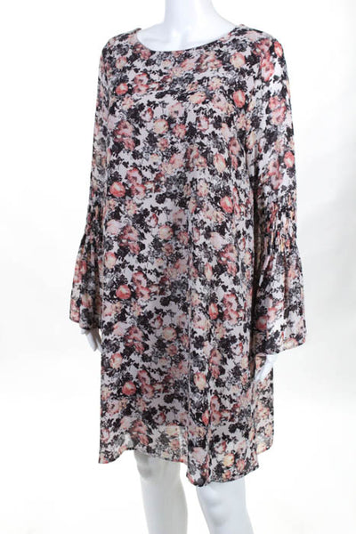 B Collection By Bobeau Womens Dress Sz. Medium Jude Flare Pink MSRP$110 10700926