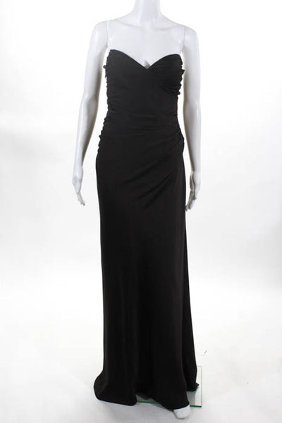 Selina Womens Evening Gown Dress Size 8 Brown Strapless Sweetheart $795 New