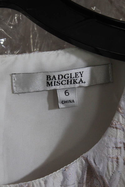 Badgley Mischka Womens Circle Bottom Dress Size 6 Lilac Mist Sheer SC1982 NEW