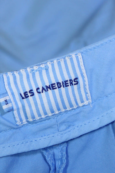 Les Canebiers Womens Pants Chino Slim Cut Cotton Sky Blue Size X-Small