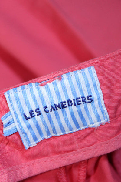 Les Canebiers Womens Pants Chino Slim Cut Cotton Red Raspberry Size Large