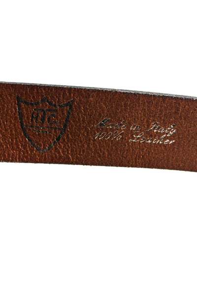 Hollywood Trading Company Womens Paradise Palm Tree Leather Belt Brown Size 34