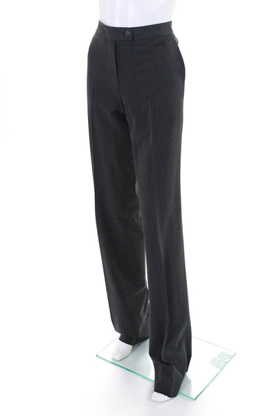 Domenico Vacca Womens Wool High Waist Boot Cut Dress Pants Gray Size 38 Italian