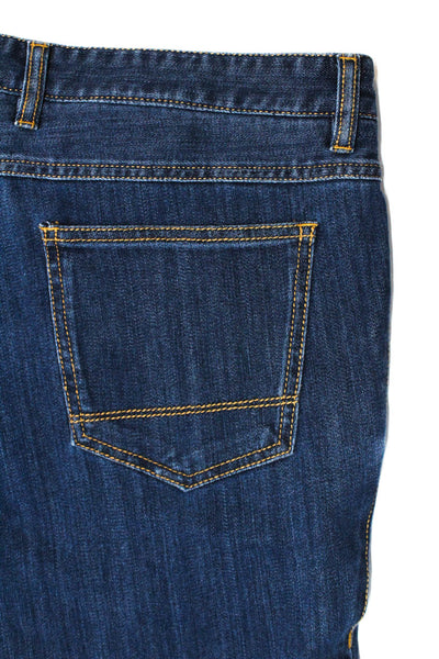 Domenico Vacca Mens Style 7806 Slim Cut Fit Jeans Medium Wash Cotton Size 58