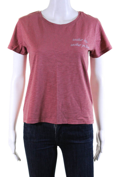 Bassigue Womens Scoop Neck Another Boy Another Problem Tee Shirt Red Large