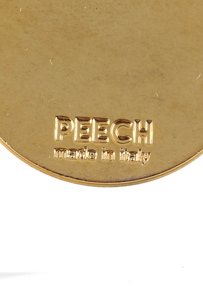 Peech Gold Tone 25mm Lady Medallion Necklace Pendant