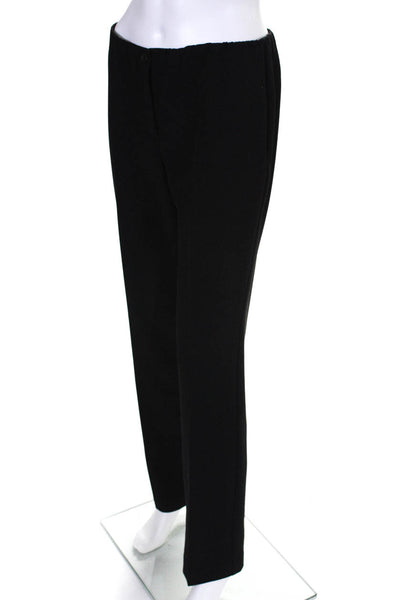 Conrad C Collection Womens Classic High Waist Slim Trousers Pants Black Size 4