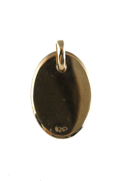 Links of London Womens Sterling Silver Gold Tone Narrative Oval Disc Pendant