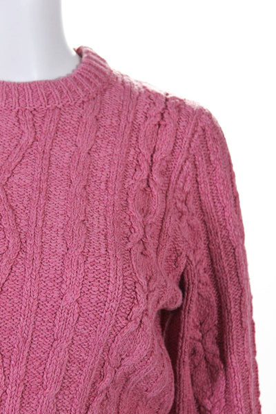 Urban Outfitters J.O.A. Womens Chloe Cropped Sweater Pink Size Small Lot 2