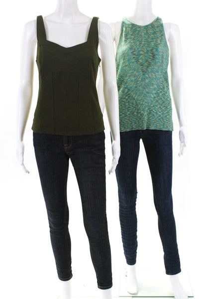 Anthropologie Womens Gemma Kyla Tanks Green Size Extra Extra Small Petite Lot 2