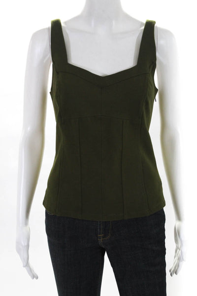 Anthropologie Womens Gemma Kyla Knit Tank Tops Green Size Medium Petite Lot 2