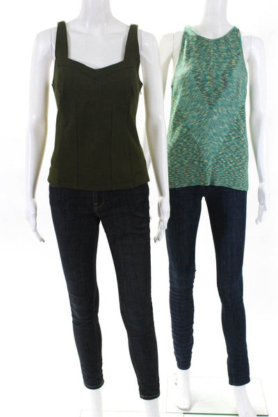 Anthropologie Womens Gemma Kyla Tank Tops Green Size Extra Large Petite Lot 2