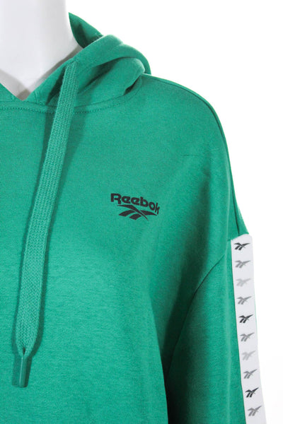 Reebok Project Social T Womens Sweatshirt Knit Top Green Red Size Medium Lot 2