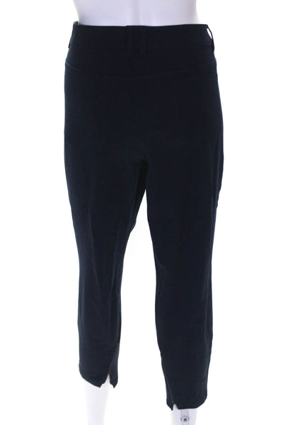 Rene Lezard Womens High Rise Skinny Leg Cropped Pants Blue Size 44 Italian