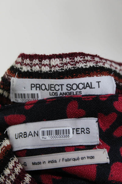 Urban Outfitters Project Social T Womens Room Service Tee Shirts Size M Lot 2