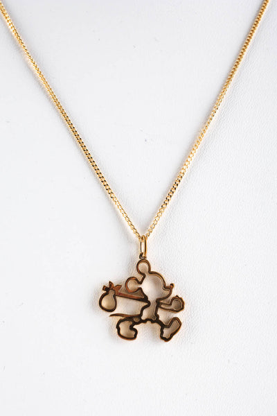 Karen Walker x Disney Ltd Edition 9kt Gold Mickey Runaway Outline Necklace