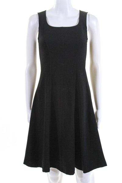 Of Mercer Womens Jersey Tank Fit And Flare A-Line Above Knee Dress Black Size 8