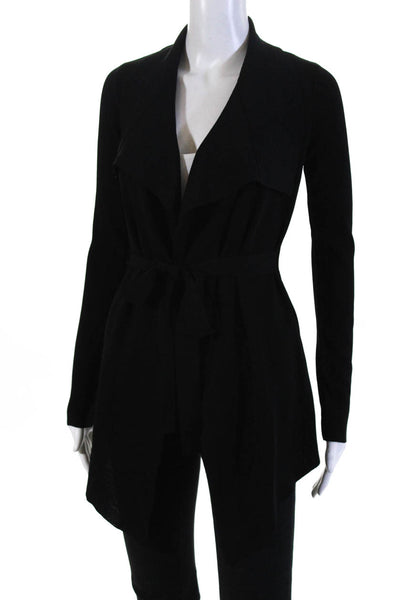 Soon Womens Maternity Drape Collar Black Wrap Sweater Size Large