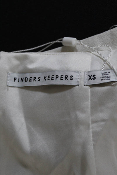 Finders Keepers  Womens Stand Still Skirt Off White Size Extra Small