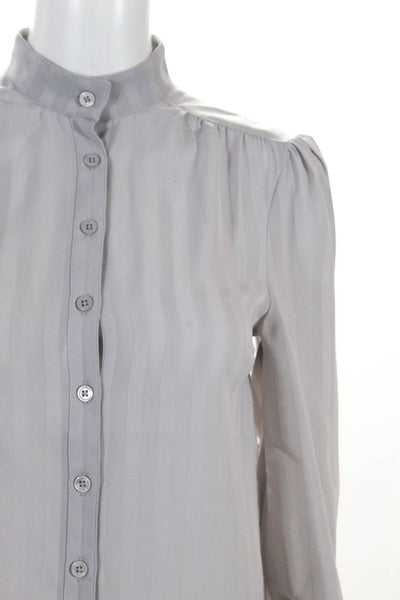 Modcloth Womens Playful Fox Button Down Blouse Blue Grey Size XX Small LOT 2