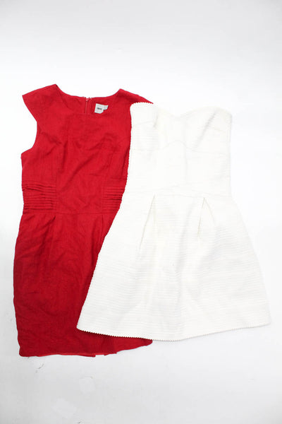 Glamorous ASOS Womens Mini Dress White Red Size Extra Small 8 Lot 2