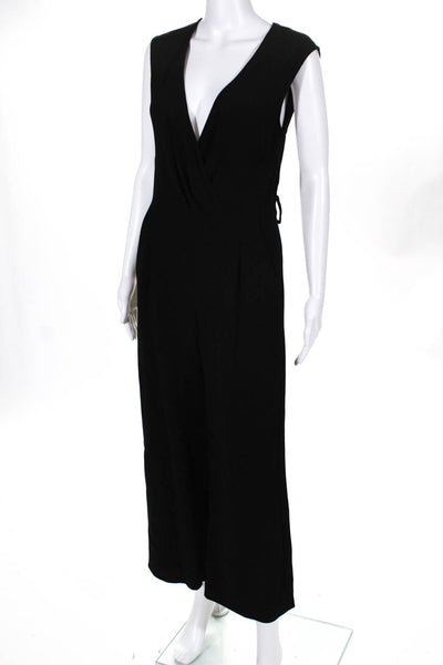 IRO Womens Sleeveless V-Neck Wide Leg Crew Jumpsuit Black Size EUR 38 11310938