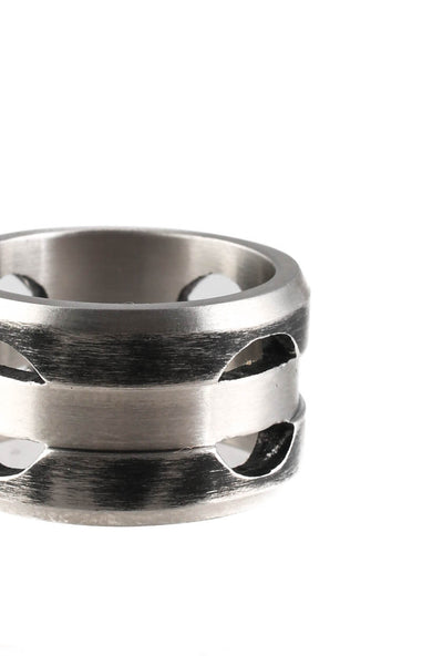 Links of London Mens Steel Element Standard Band Ring Size 9