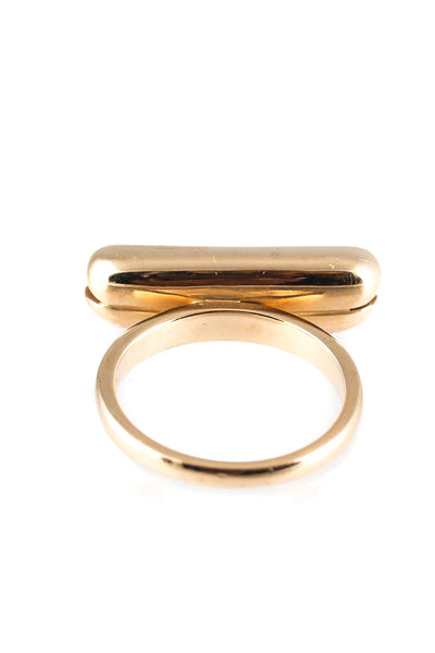 Alison Lou 18kt Yellow Gold Hot Dog Ring Size 6