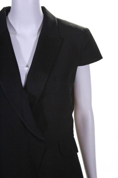 Pallas Womens Wool Short Sleeve Adagio Tuxedo Blazer Jacket Black Size 40 EUR