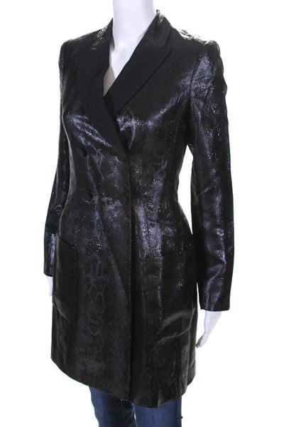 Pallas Womens Long Sleeve Brocade Broadway Jacket Dress Black Size 40 European