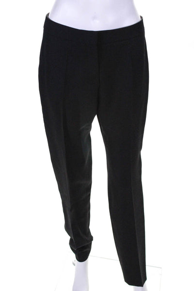 Pallas Womens Wool High Waist Tapered Dress Pants Black Size 40 European