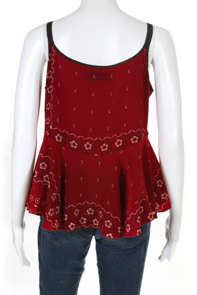 Kolor Womens Red Cami Layered Detail Sweater Ecru White Size 2