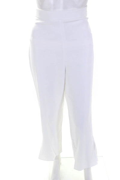 Cushnie Womens High Waisted Cropped Fitted Dress Pants White Size 10