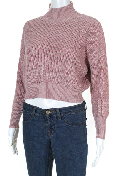 Knot Sisters Womens Libby Sweater  Dusty Rose Knit Size Extra Small
