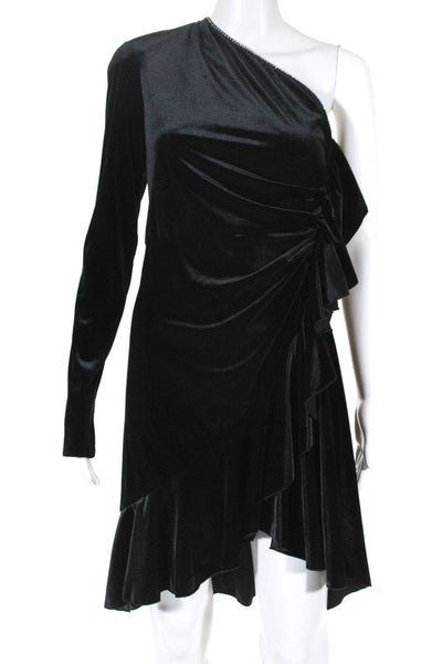 Philosophy di Lorenzo Serafini Womens One Shoulder Mini Dress Black Size EUR 44