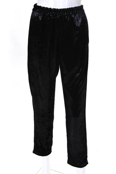 XIRENA Womens Stretch Waist Declan Pants Black Shine Size Small