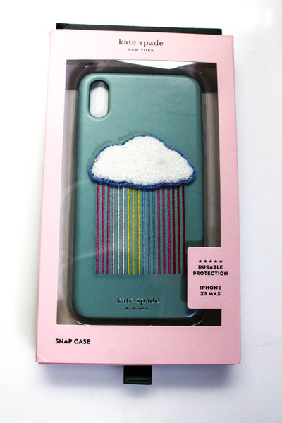 Kate Spade New York Womens Rainbow Cloud Patch iPhone XS Max Case Blue Lot 2