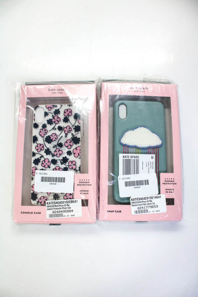 Kate Spade Womens Rainbow Cloud Floradoodle iPhone XS Max Case Lot 2