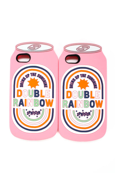 BAN.DO  Womens Double Rainbow iPhone Case Pink iPhone 8