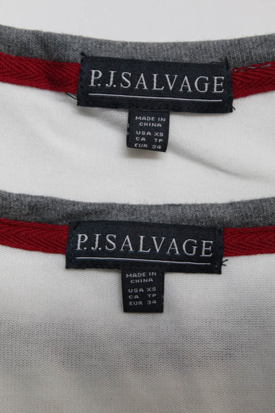 PJ Salvage Womens  Snowed In Top Cream Charcoal Size Extra Small Lot 2