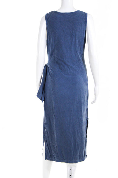 SUNDRY Womens Knotted Dress Pigment Sapphire Blue Cotton Size 3