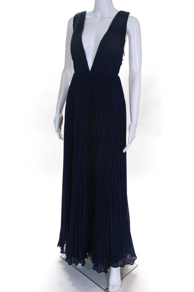 Fame and Partners Womens The Allegra Dress Navy Size 6